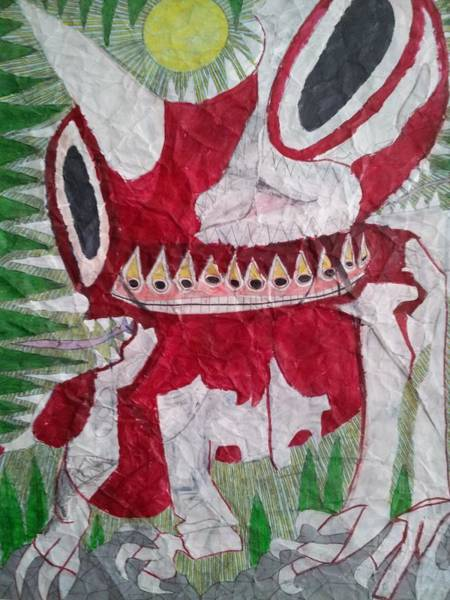 Developed Drawing - Creature by William Douglas