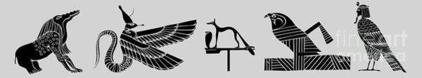 Tourism Wall Art - Digital Art - creatures of ancient Egypt by Michal Boubin