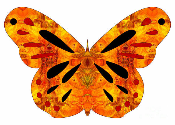 Digital Art - Creatures Of Habit And Abstract Butterflies By Omashte by Omaste Witkowski