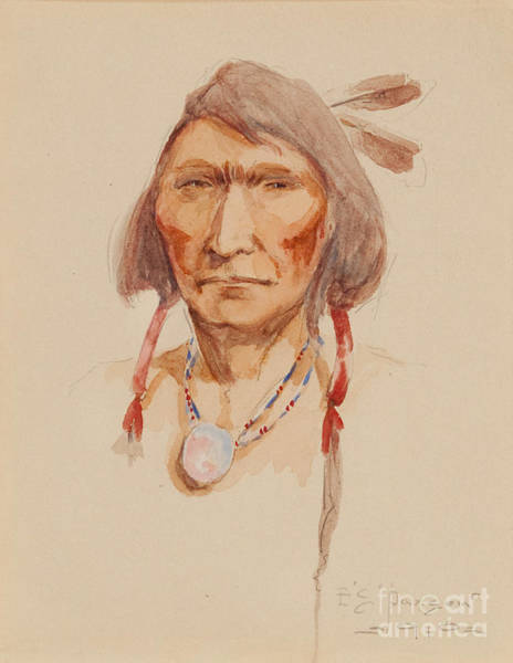 Painting - Cree Brave by Celestial Images