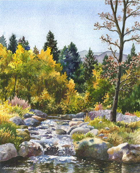Wall Art - Painting - Creek At Caribou by Anne Gifford