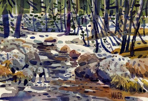 High Country Wall Art - Painting - Creek At Tuolume Meadows by Donald Maier