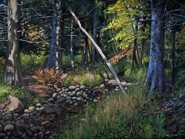 Wall Art - Painting - Creek Bed - Shadow Lake - Danbury, Connecticut by Mark Maritato