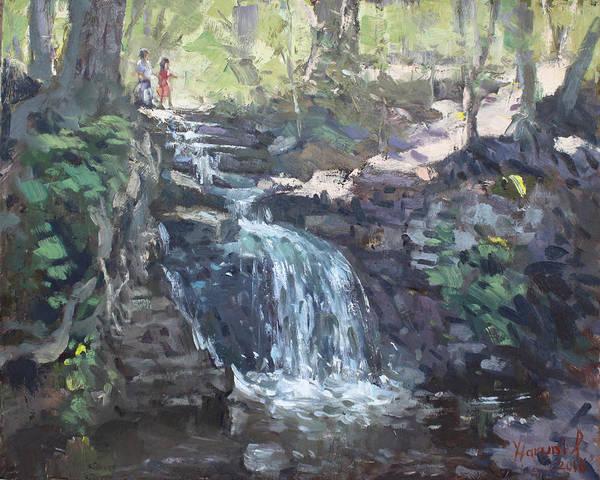 Wall Art - Painting - Creek Falls  by Ylli Haruni