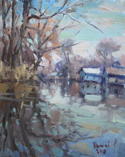Wall Art - Painting - Creek In Tonawanda by Ylli Haruni