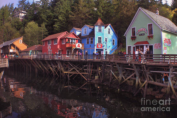 Photograph - Creek Street Is A Historic Boardwalk In Ketchikan Alaska 2015 by California Views Archives Mr Pat Hathaway Archives
