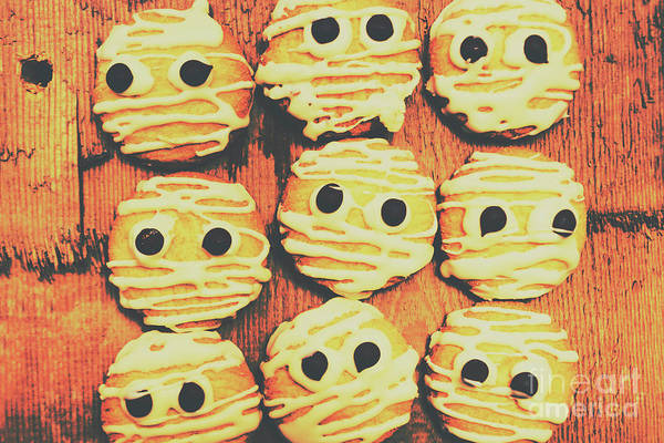 Dessert Photograph - Creepy And Kooky Mummified Cookies  by Jorgo Photography - Wall Art Gallery