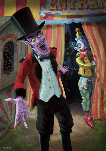 Painting - Creepy Circus by Martin Davey