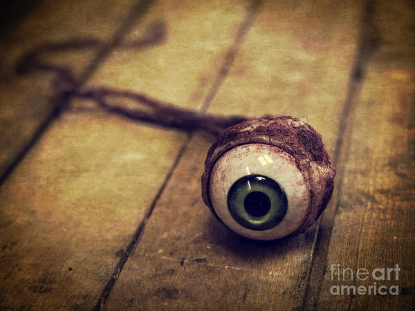 Halloween Photograph - Creepy Eyeball by Edward Fielding