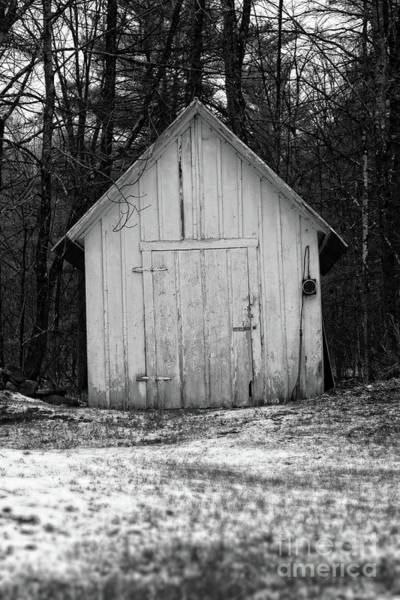 Cemetaries Wall Art - Photograph - Creepy Old Shed In The Cemetary by Edward Fielding