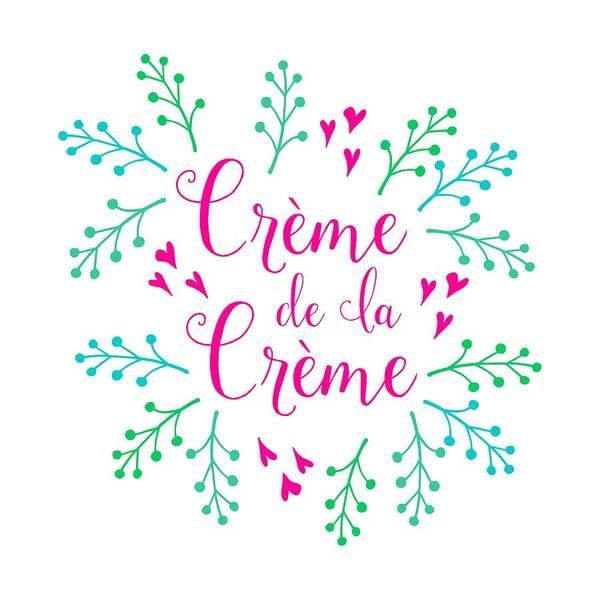 Wall Art - Digital Art - Creme De La Creme Pink Hearts by Antique Images