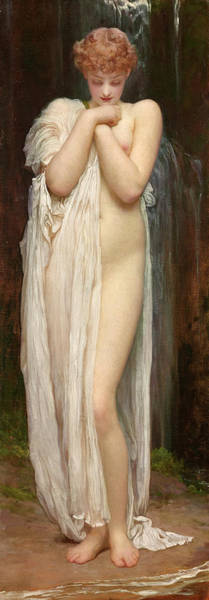 Nymph Painting - Crenaia by Frederic Leighton
