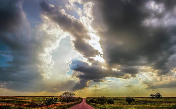 Photograph - Crepuscular Nebraska Thunderset 006 by NebraskaSC