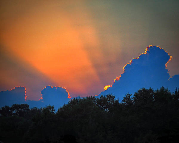 Photograph - Crepuscular Rays Of A Roxanna Sunset by Bill Swartwout Photography