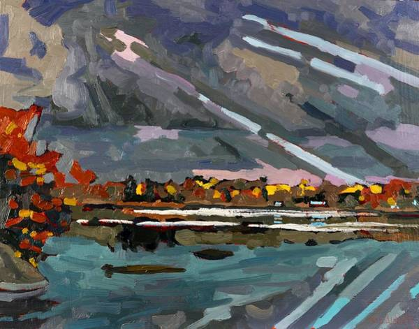 Stratocumulus Painting - Crepuscular Rays by Phil Chadwick