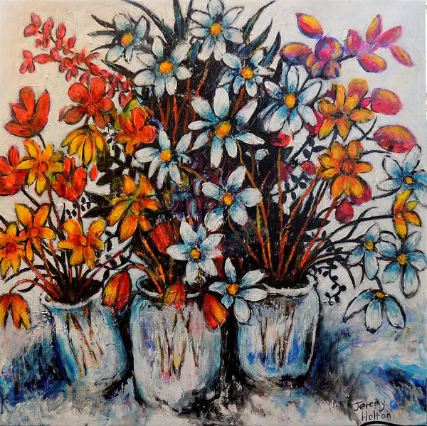 Painting - Crescendo Of Flowers by Jeremy Holton