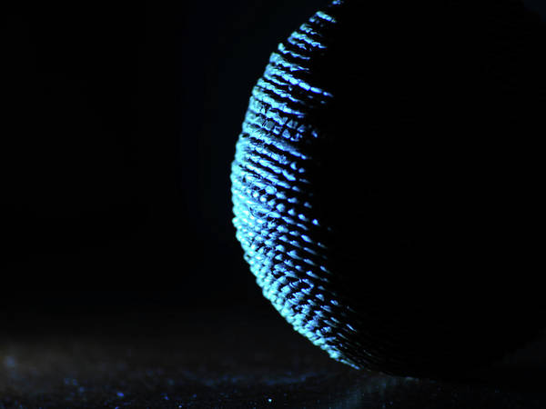 Photograph - Crescent Ball In Cyan by Scott Cordell