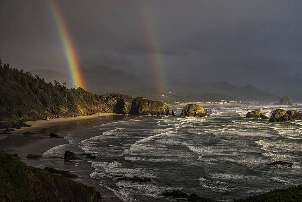 Photograph - Crescent Beach Rainbow by Robert Potts