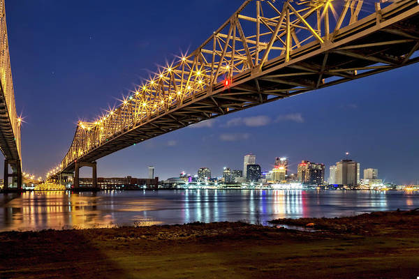 Photograph - Crescent City Bridge, New Orleans by Kay Brewer