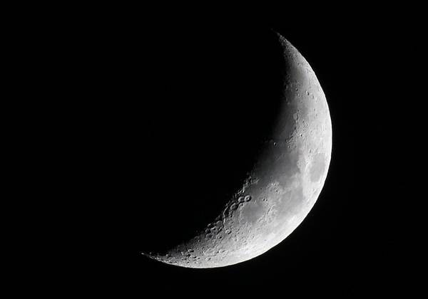 University Of Alaska Photograph - Crescent Moon by David Broome