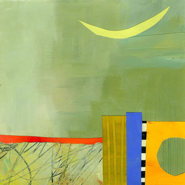 Abstract Pattern Painting - Crescent Moon Number Two by Jane Davies