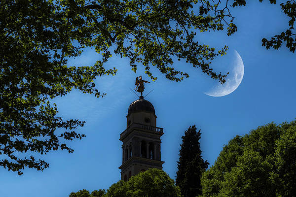 Photograph - Crescent Moon Over Udine by Wolfgang Stocker