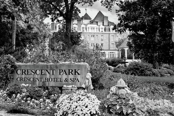 Photograph - Crescent Park Hotel Black And White by Gregory Ballos