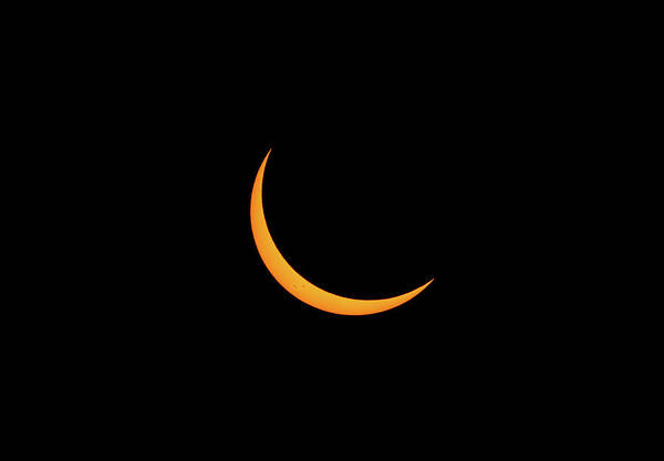 Photograph - Crescent Sun During Eclipse by Marc Crumpler