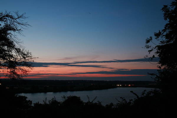 Photograph - Creve Coeur Lake Sunset by David Coblitz