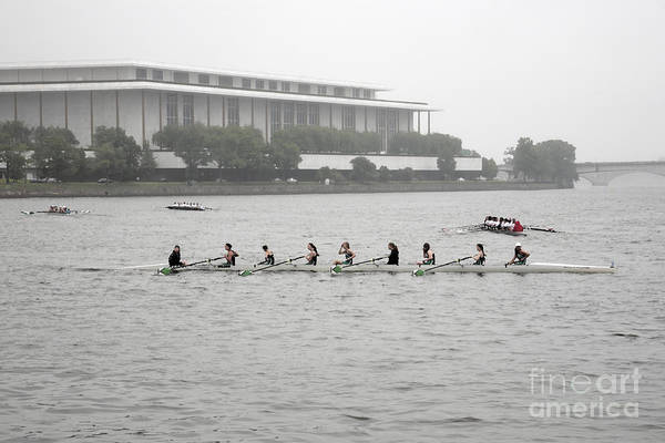 Digital Art - Crews Cool Down After A Race At A Rowing Regatta On The Potomac In Georgetown by William Kuta