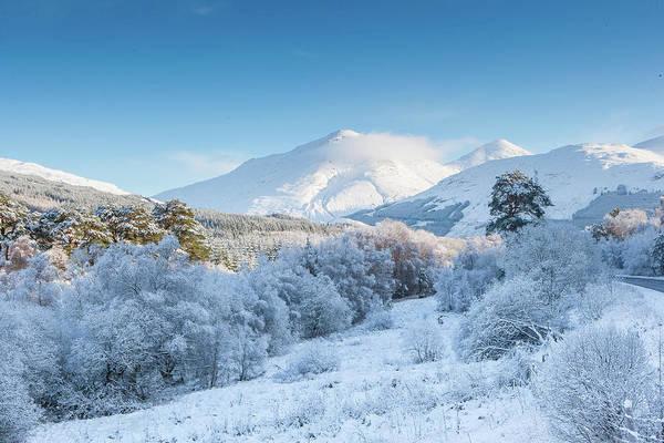 Frost Digital Art - Crianlarich - Scottish Highlands by Pat Speirs
