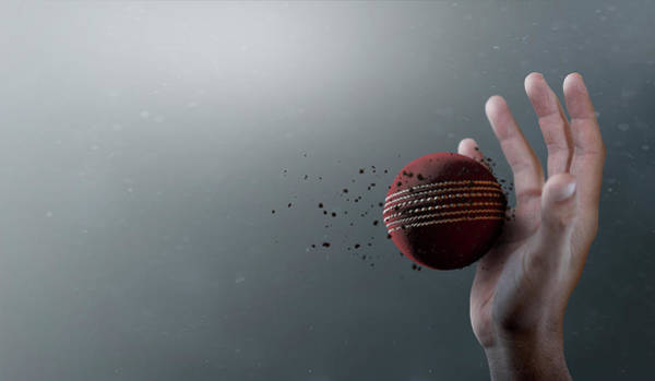 Wall Art - Digital Art - Cricket Ball In Flight by Allan Swart