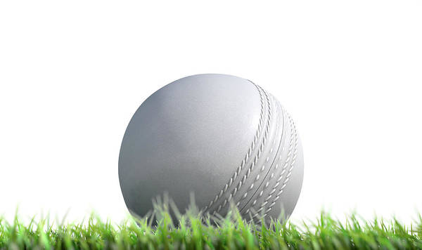 Disney Digital Art - Cricket Ball Resting On Grass by Allan Swart