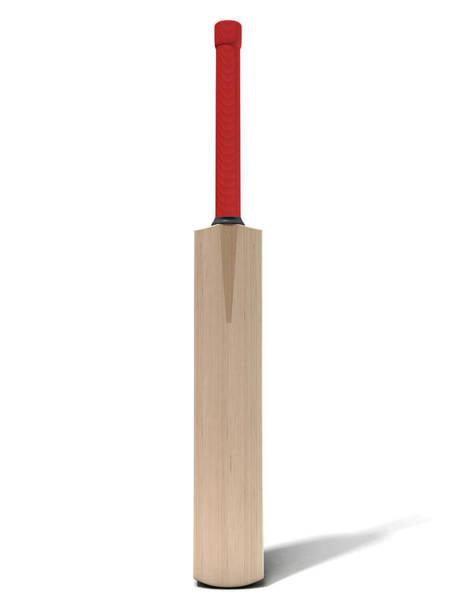 Paddle Digital Art - Cricket Bat by Allan Swart