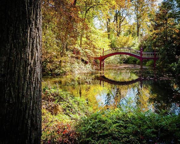 Wall Art - Photograph - Crim Dell Bridge - Fall by Linda Eszenyi