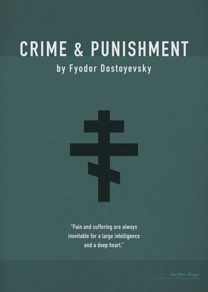 Punishment Wall Art - Mixed Media - Crime And Punishment Greatest Books Ever Series 014 by Design Turnpike