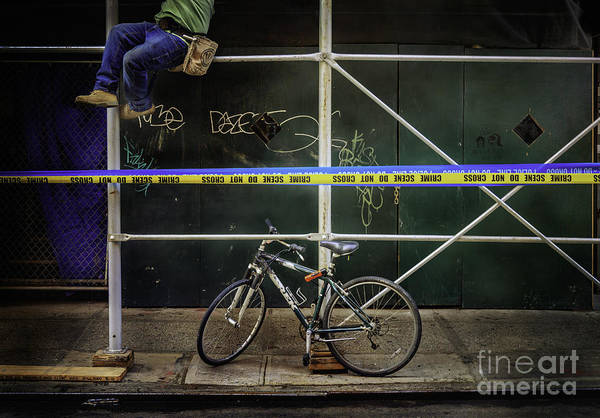 Photograph - Crime Scene Bicycle by Craig J Satterlee