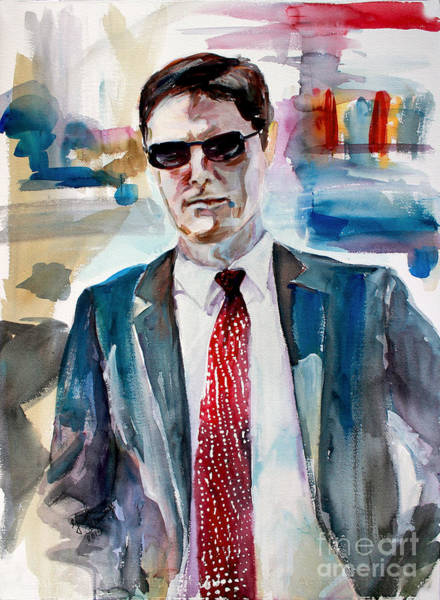 Painting - Criminal Minds Aaron Hotchner The Way I See Him by Ginette Callaway