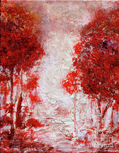 Painting - Crimson Forest by Tim Musick