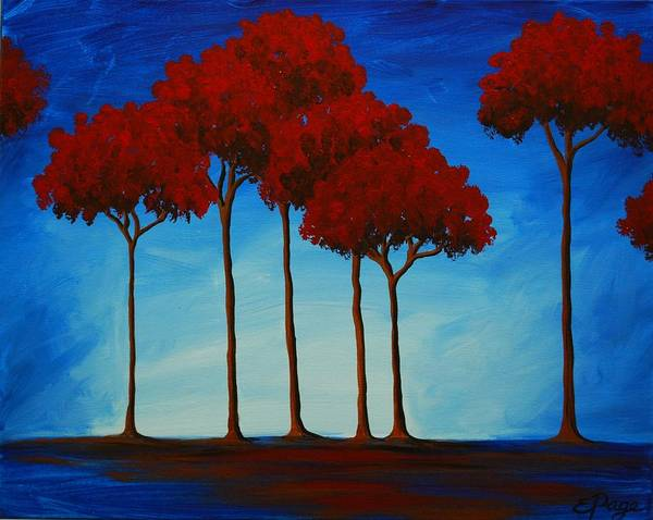 Painting - Crimson Grove by Emily Page
