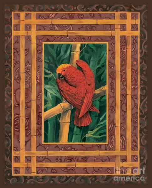 Rain Forest Painting - Crimson Parrot by Paul Brent