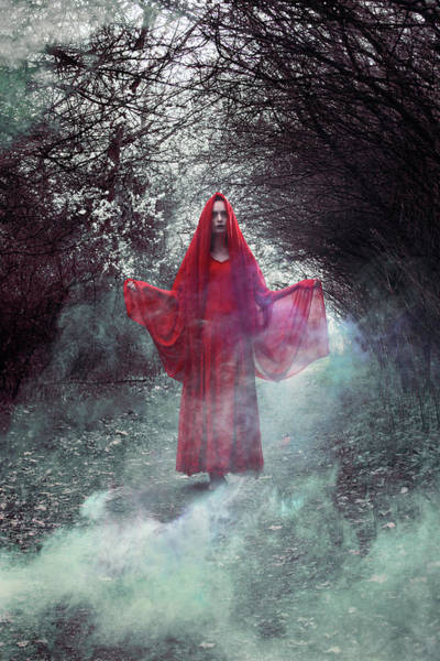 Wall Art - Digital Art - Crimson Prophetess by Cambion Art