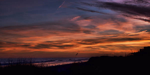 Photograph - Crimson Sunset Isle Of Palms by Evie Carrier