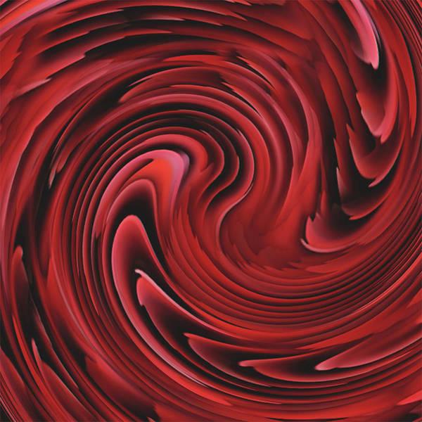 Spin Painting - Crimson Swirl by Jack Zulli