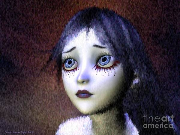 Wall Art - Painting - Crimson Tears by Sandra Bauser Digital Art