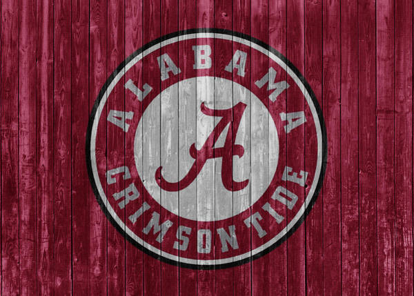 Wall Art - Mixed Media - Crimson Tide Barn Door by Dan Sproul