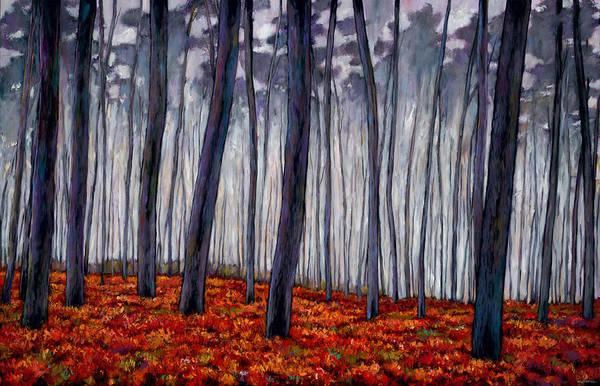 Wall Art - Painting - Crimson Walk by Johnathan Harris