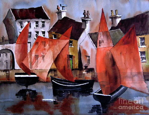 Painting - Criniu Na Mbad.. Galway by Val Byrne