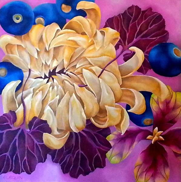 Wall Art - Painting - Crisantemo by Elizabeth Elequin