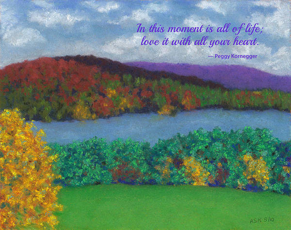 Pastel - Crisp Kripalu Morning - With Quote by Anne Katzeff